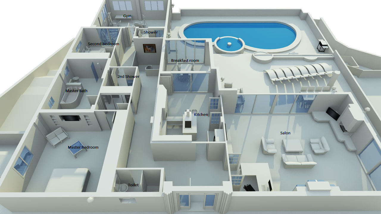Floor plan luxury villa for rent near alicante costa for House plans 10000 square feet plus